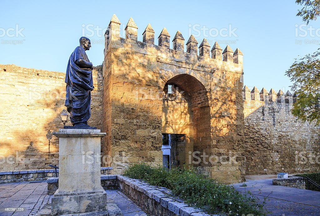 Lucius Annaeus Seneca  the Younger, Cordoba, Spain stock photo