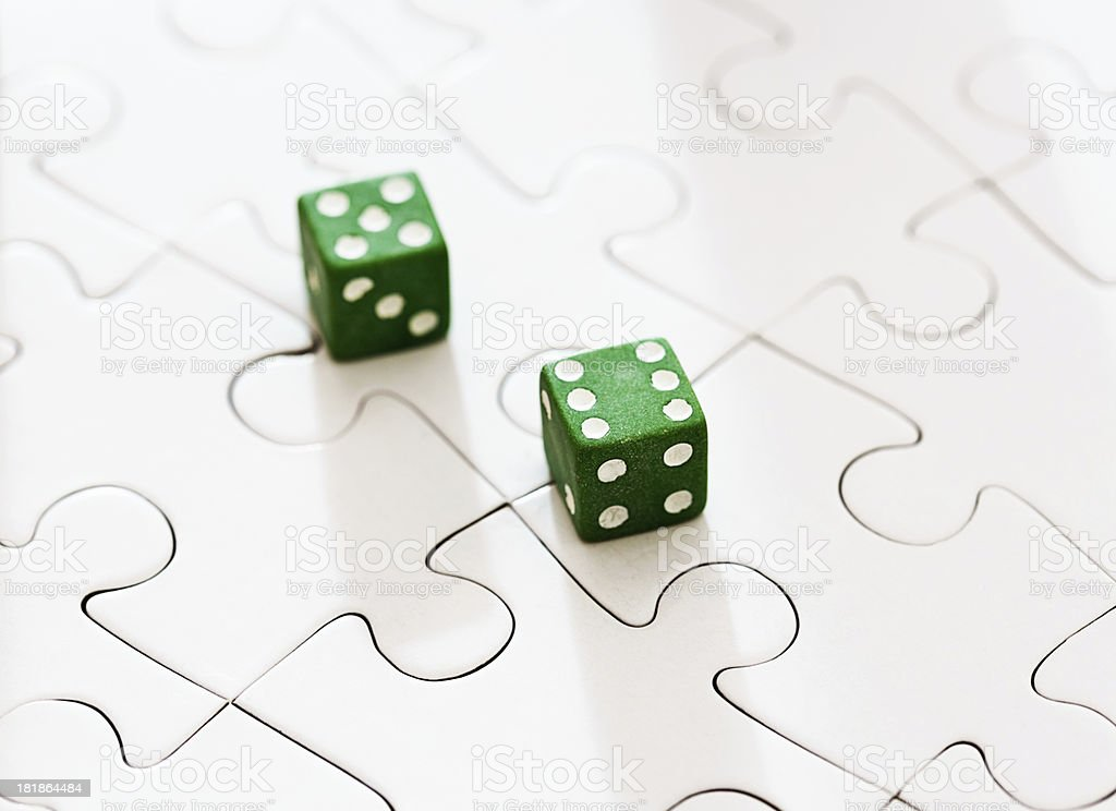 'Luck is a puzzle, like throwing dice' stock photo