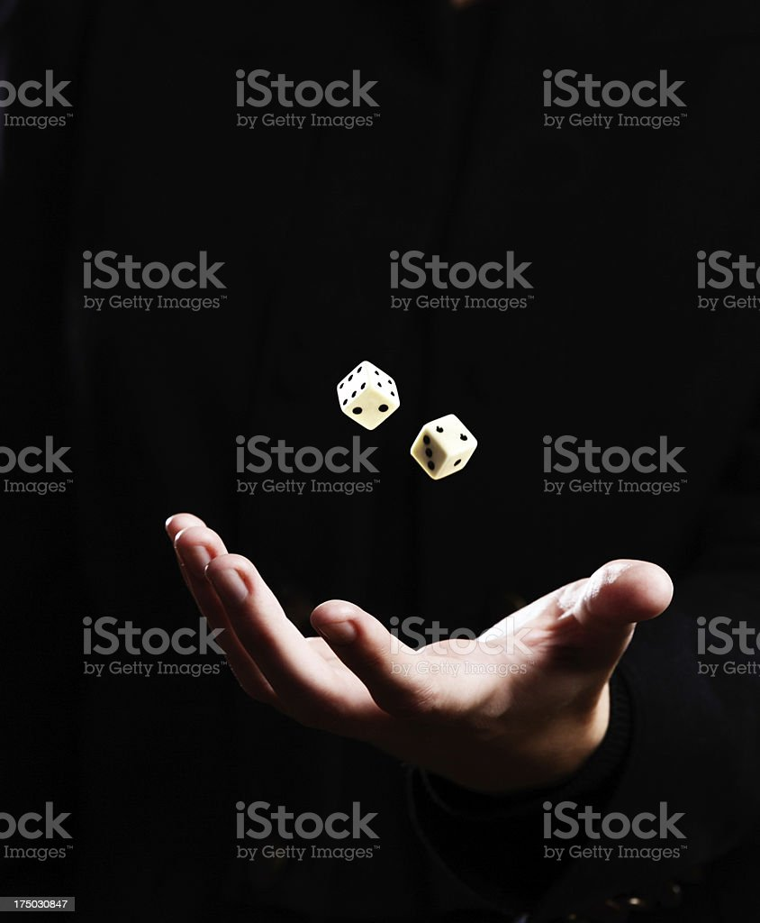 Luck is fickle as a throw of the dice royalty-free stock photo