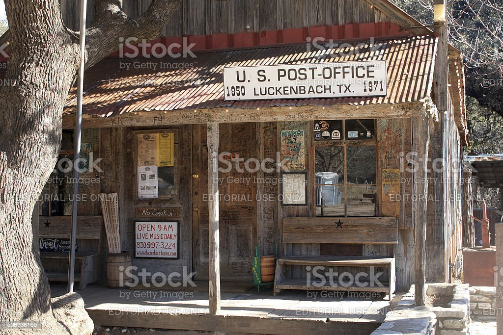 luckenbach texas postoffice stock photo