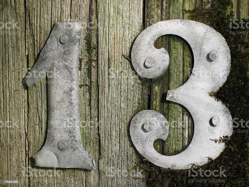 lucky 13 royalty-free stock photo