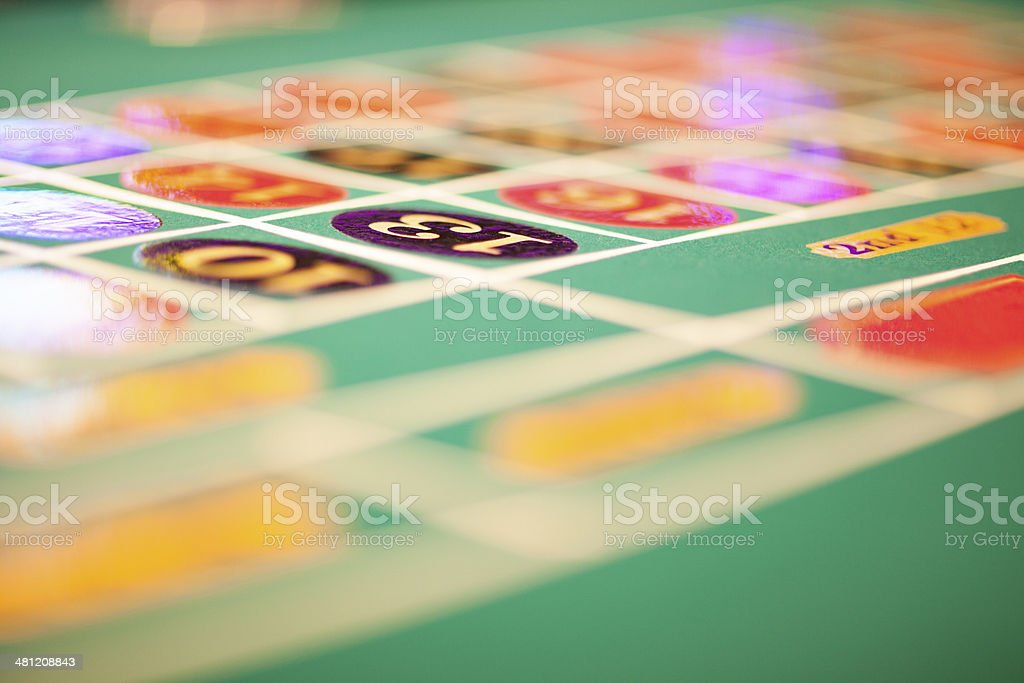 Lucky 13 - roulette table with number thirteen in focus royalty-free stock photo