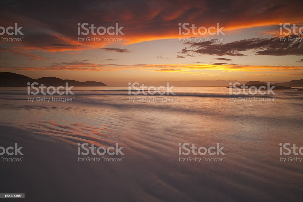 Lucky Bay Afterglow. stock photo