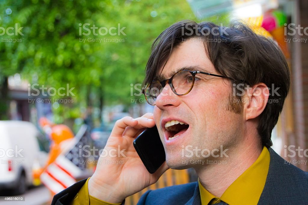 Lucky call stock photo