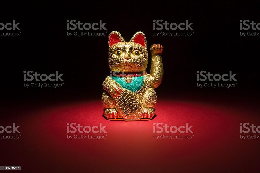Lucky Cat Maneki Neko (XXL) stock photo