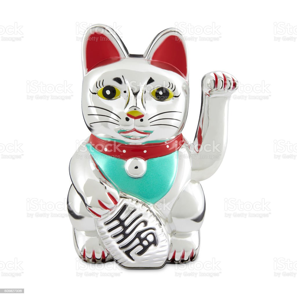 Lucky cat - Maneki Neko stock photo