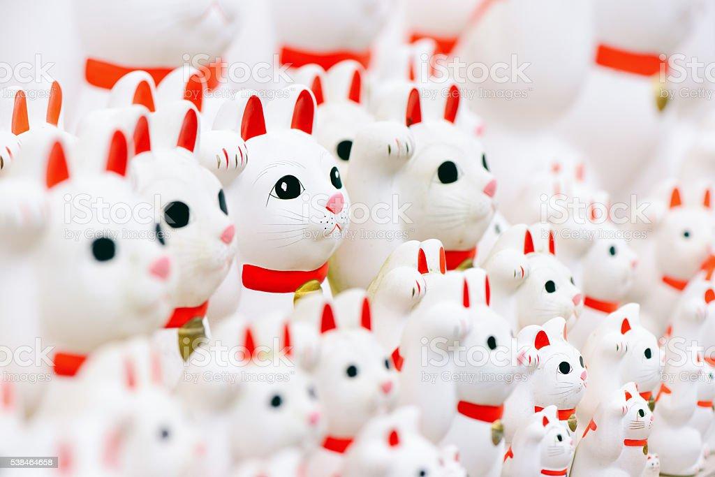Lucky Cat. Manekineko. stock photo