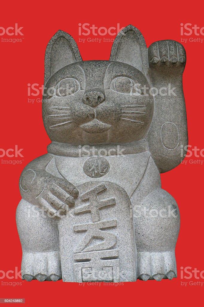 Lucky Cat Statue stock photo