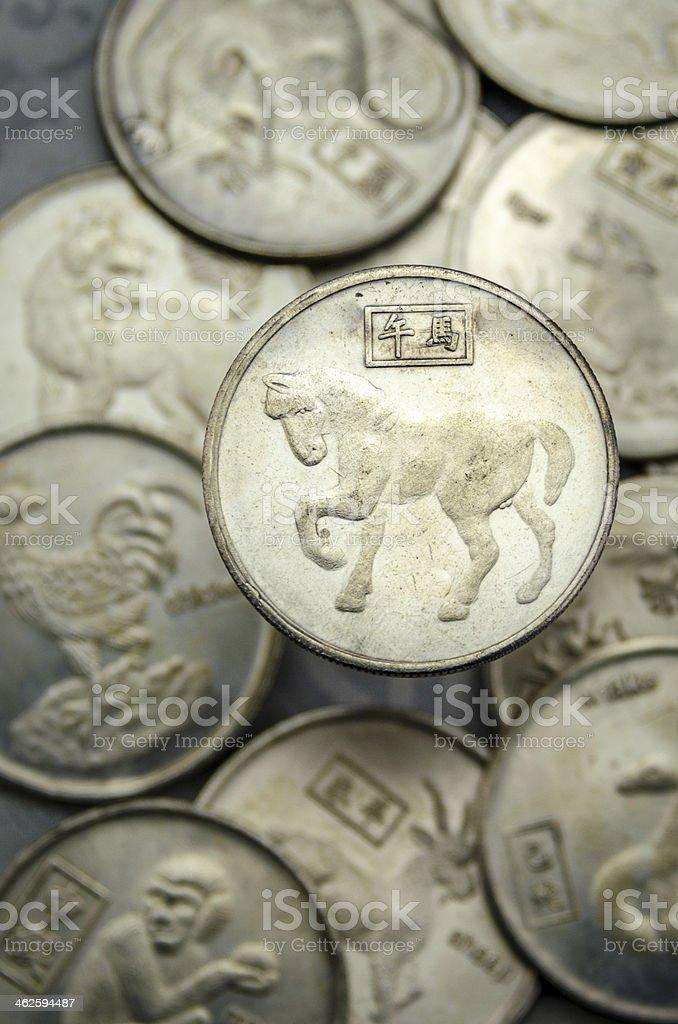 Lucky Coin stock photo