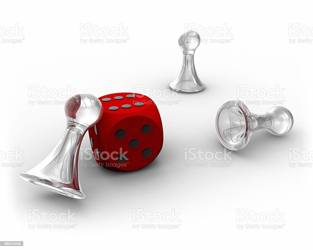 Lucky Dice and Pawns royalty-free stock photo