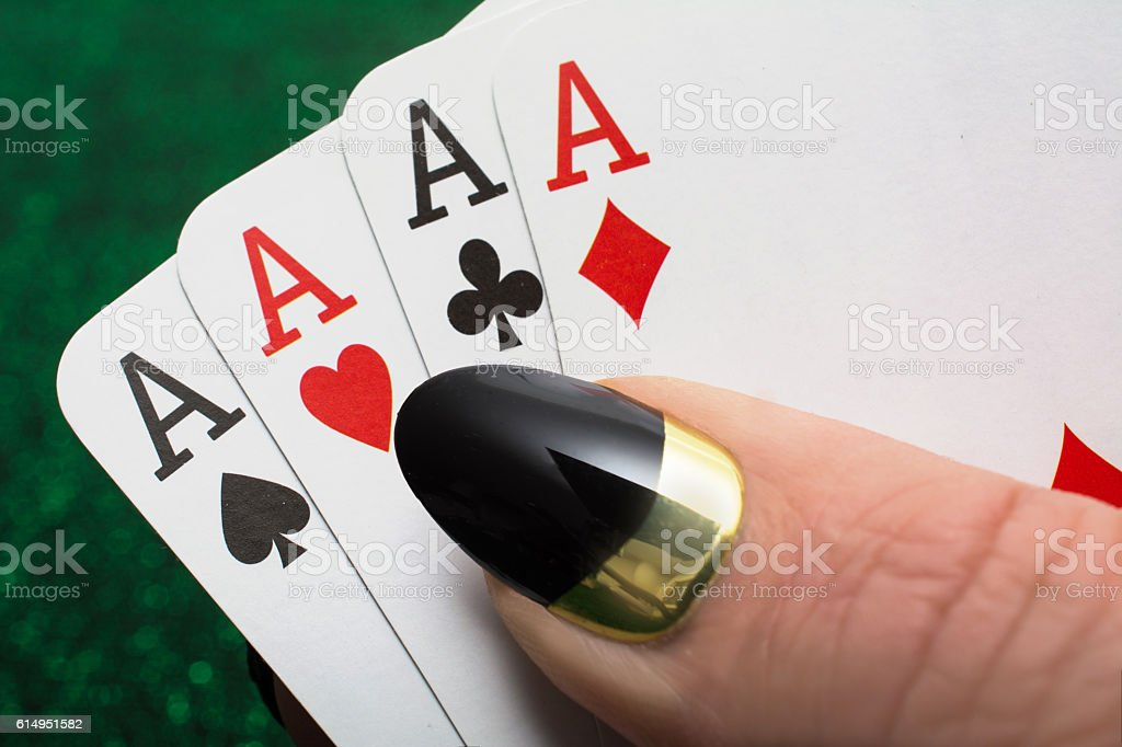 Lucky  Four of a kind stock photo