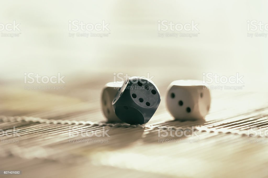 Lucky game of dice stock photo
