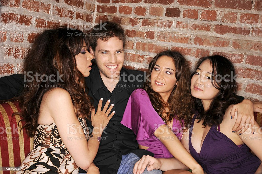 Lucky Guy stock photo