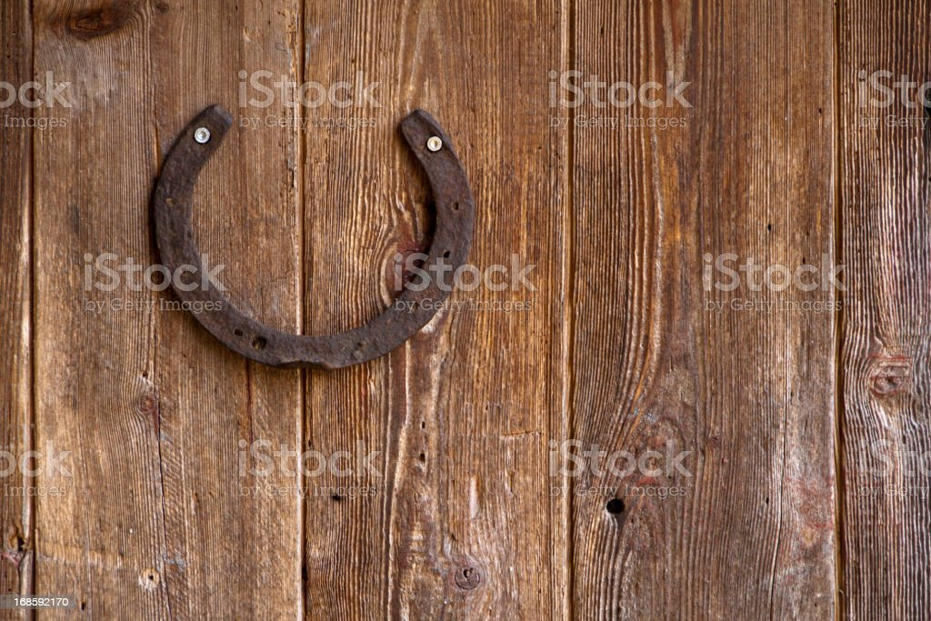 Lucky horseshoe royalty-free stock photo