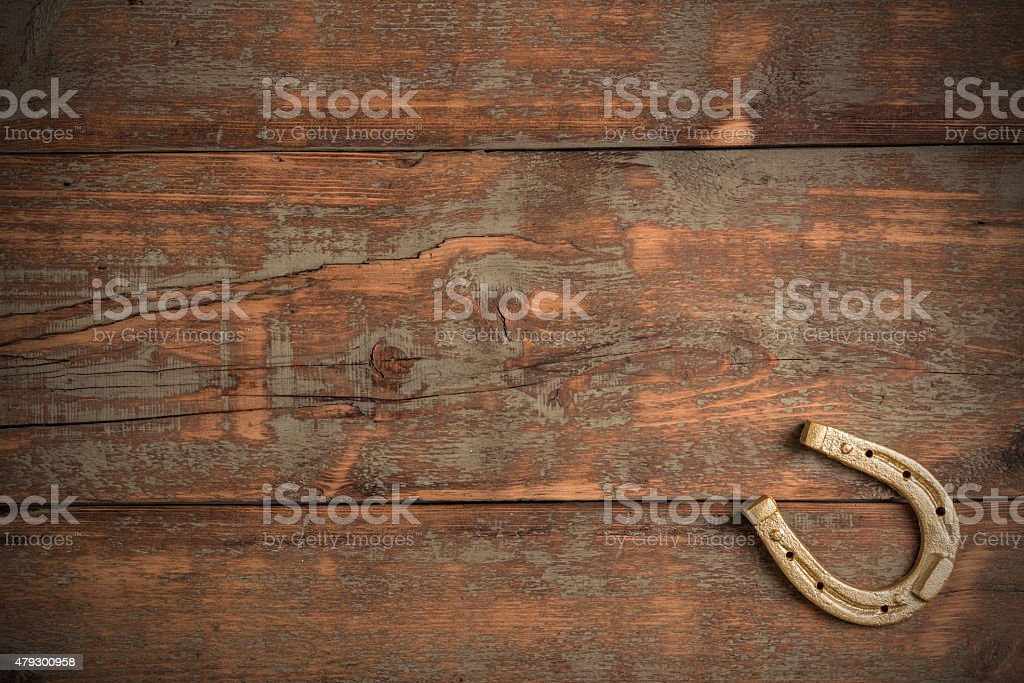 Lucky horseshoe stock photo