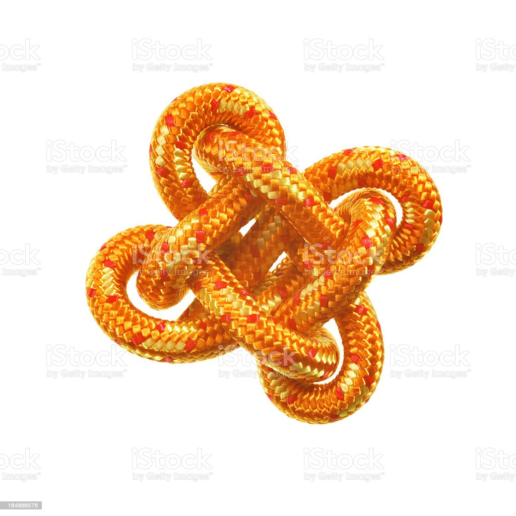 lucky knot isolated on white stock photo