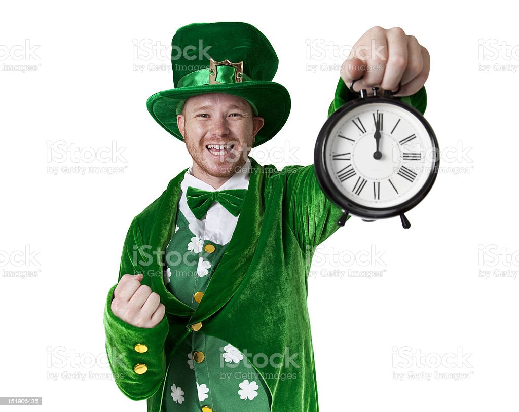 Lucky Leprechaun Says It's Time for Something royalty-free stock photo