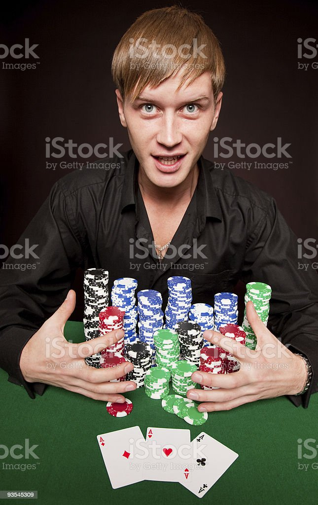 lucky man royalty-free stock photo