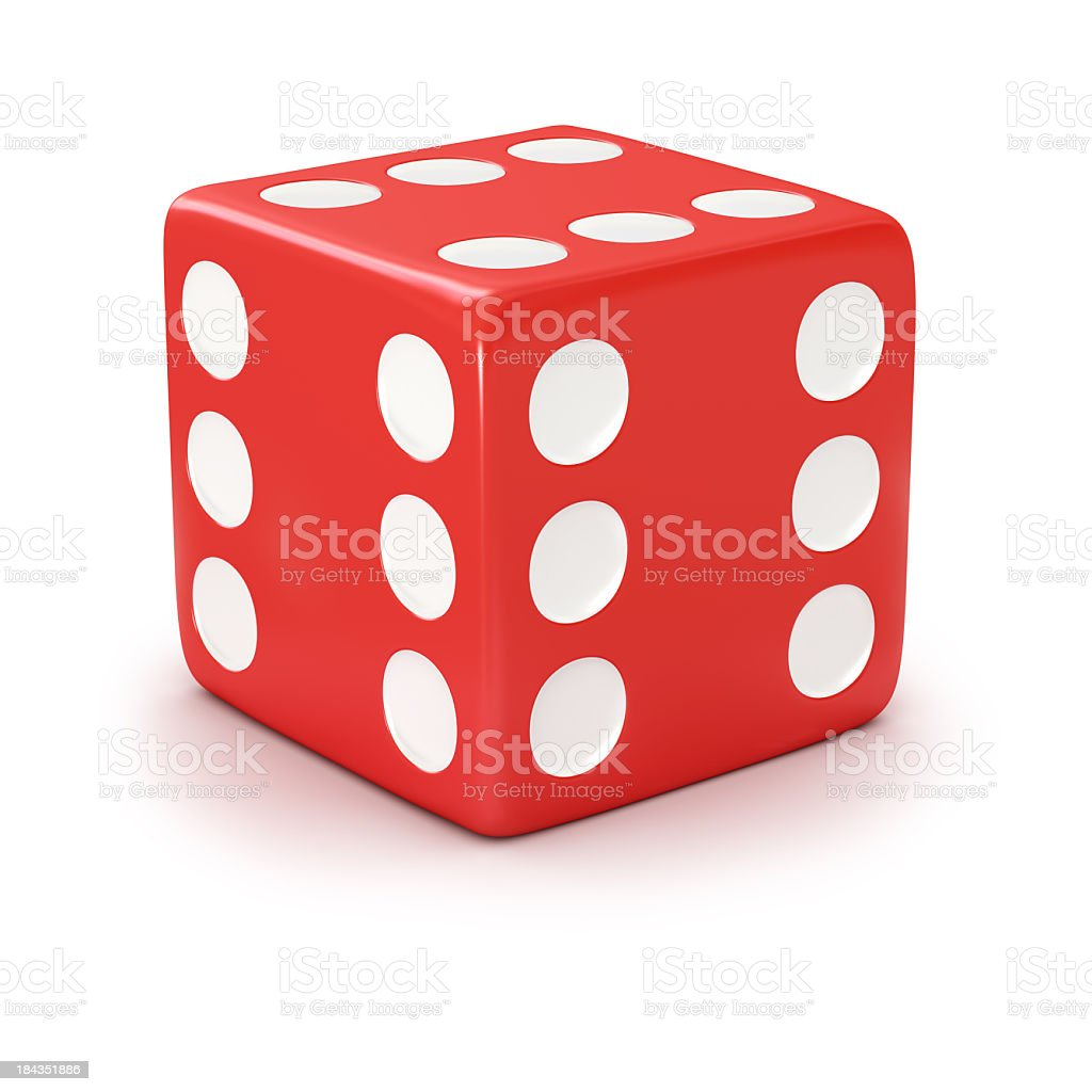 lucky red dice royalty-free stock photo