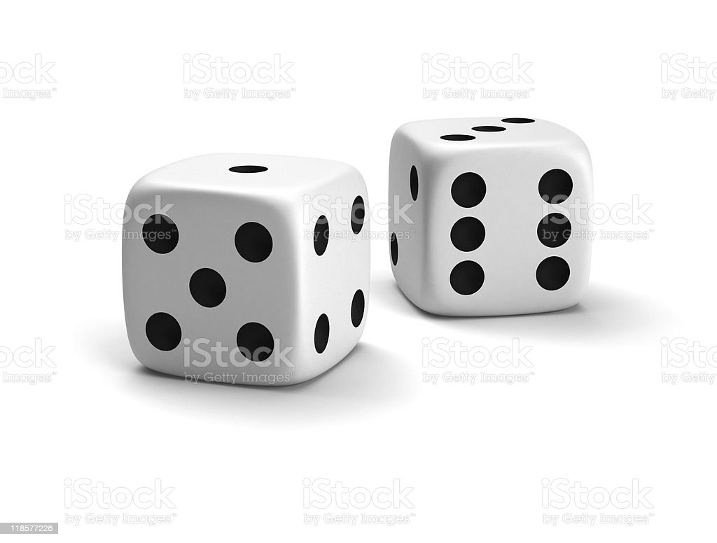 Lucky dice vector art illustration