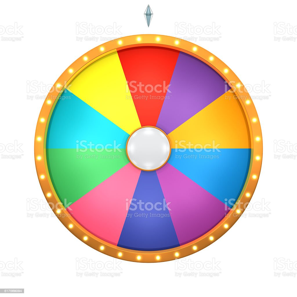 lucky spin 10 area color stock photo