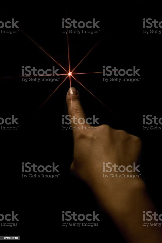 lucky star and woman hand stock photo