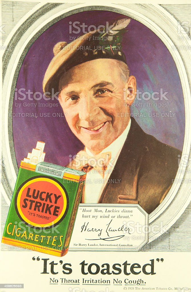 Lucky Strike Ad stock photo