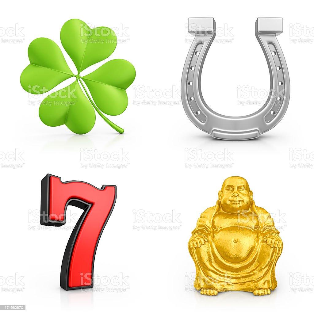 lucky symbols stock photo