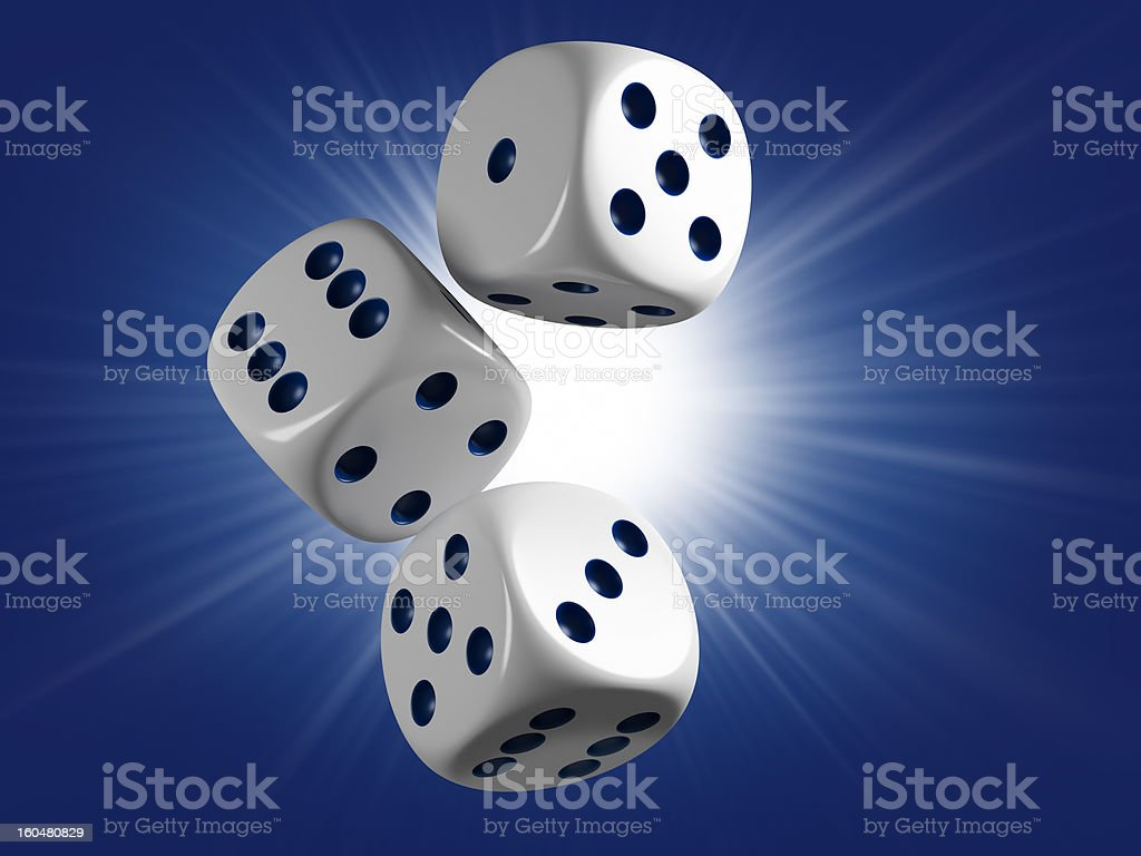 Lucky toss royalty-free stock photo