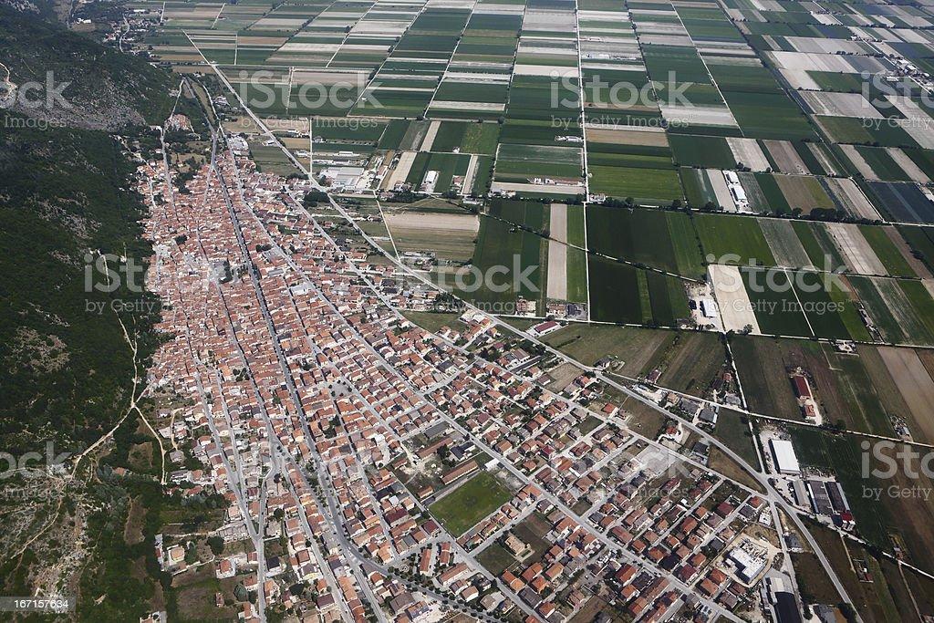 Luco dei Marsi, aerial view royalty-free stock photo