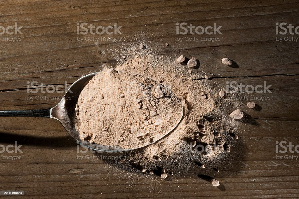 Lucuma powder stock photo