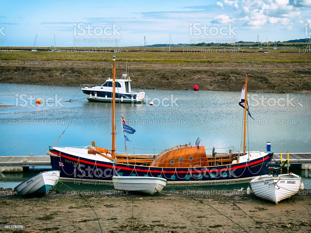 Lucy Lavers, former lifeboat, at Wells-next-the-Sea stock photo