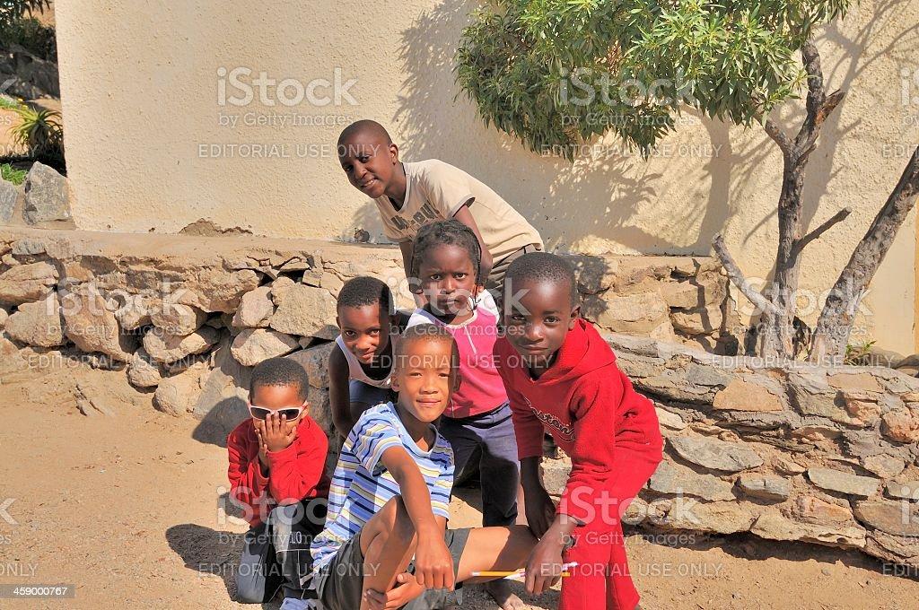 Luderitz Children Posing stock photo