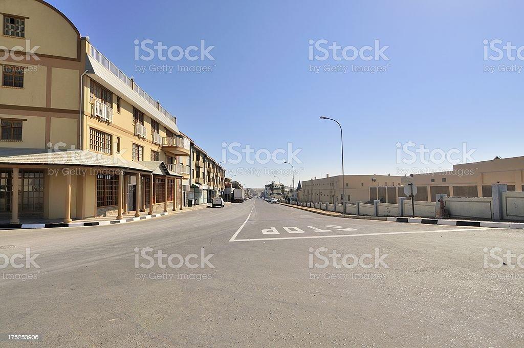 Luderitz Deserted Street stock photo