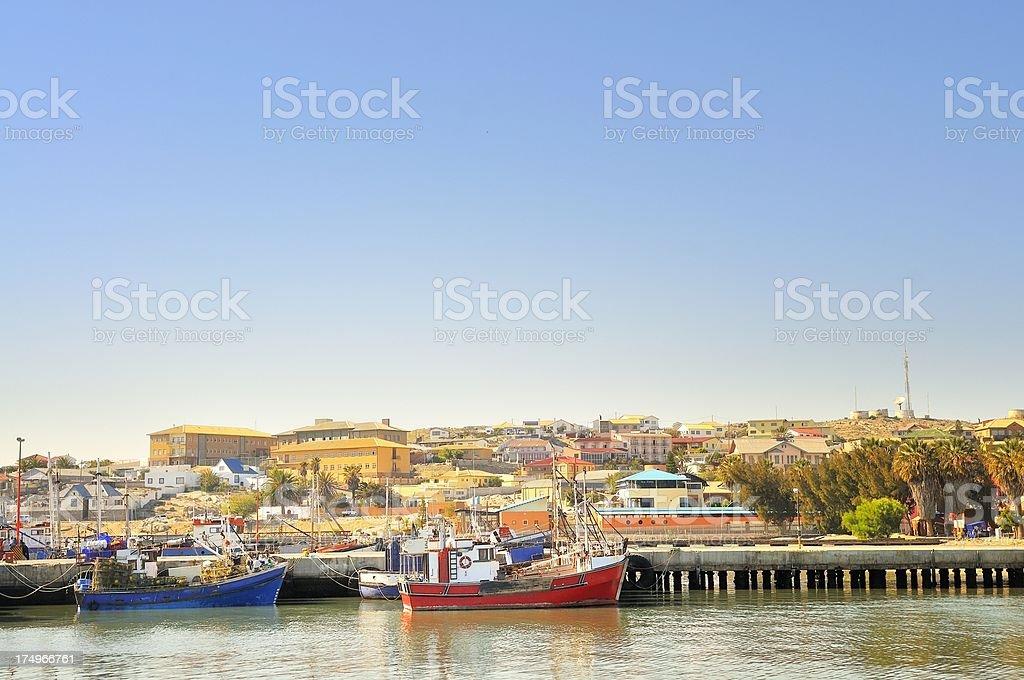 Luderitz Fishing Trawlers Docked stock photo
