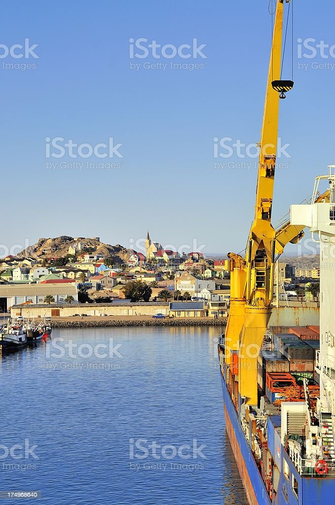 Luderitz From The Harbor stock photo