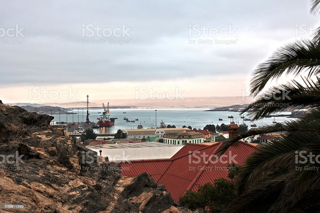 Luderitz harbor stock photo