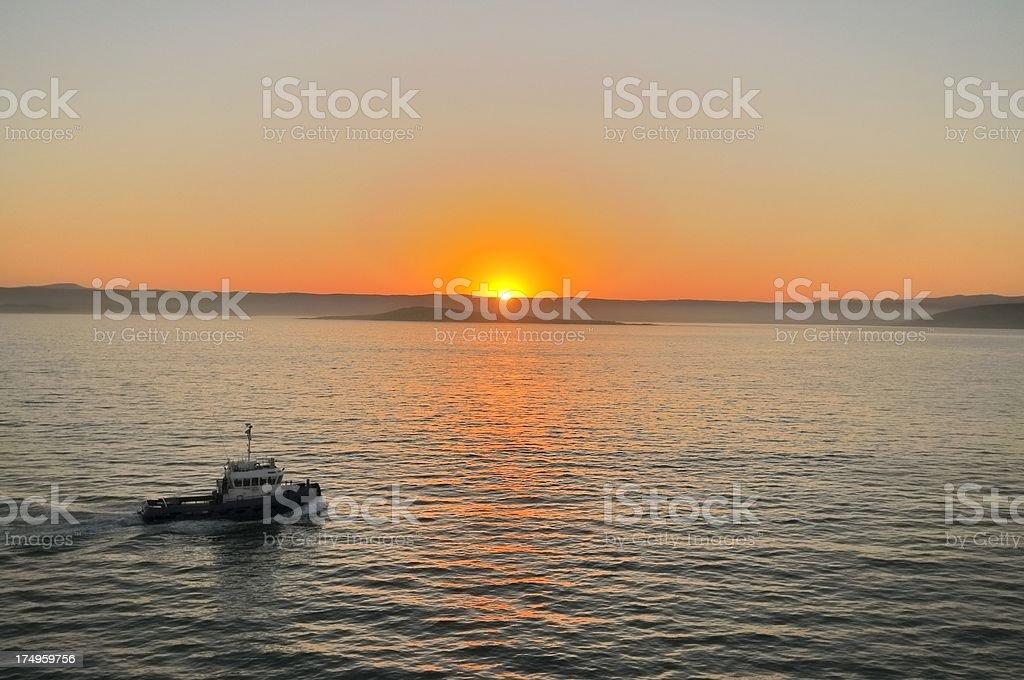 Luderitz Harbor Sunrise stock photo