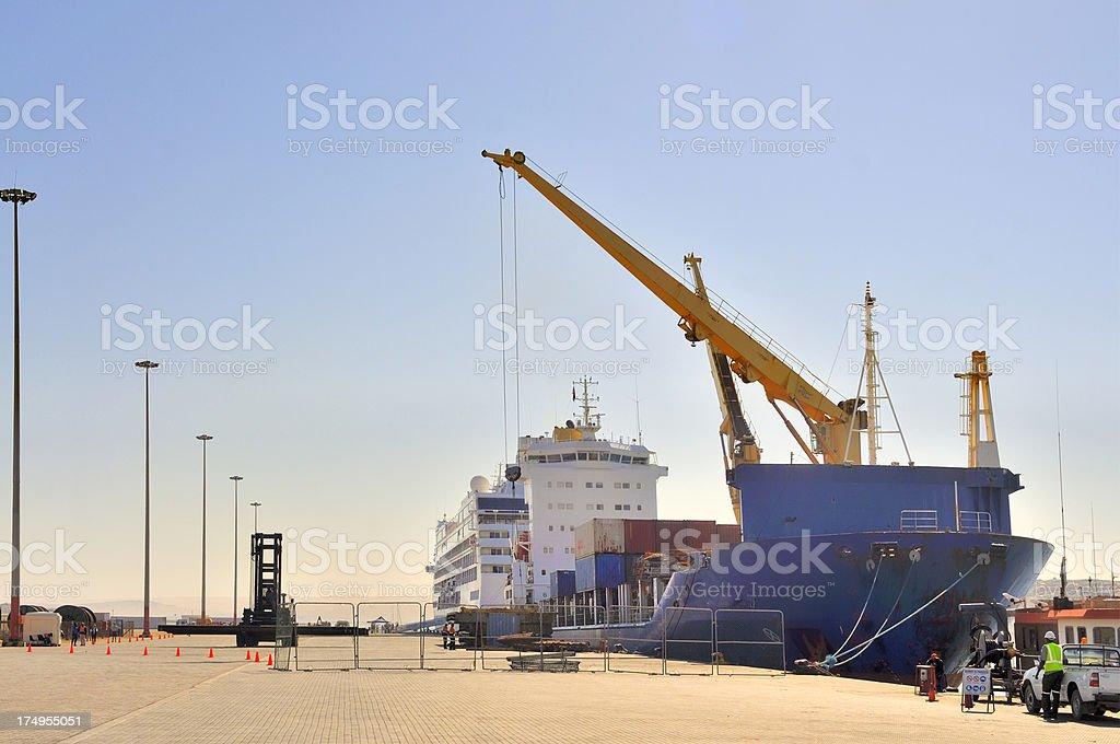Luderitz Shiploading stock photo