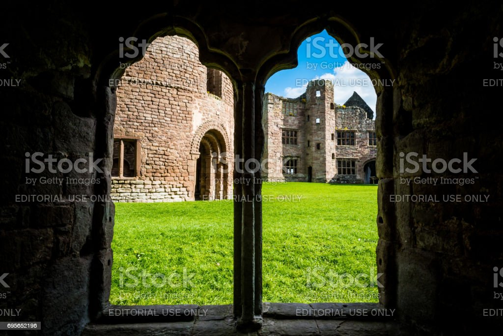 Ludlow Castle in Shropshire stock photo