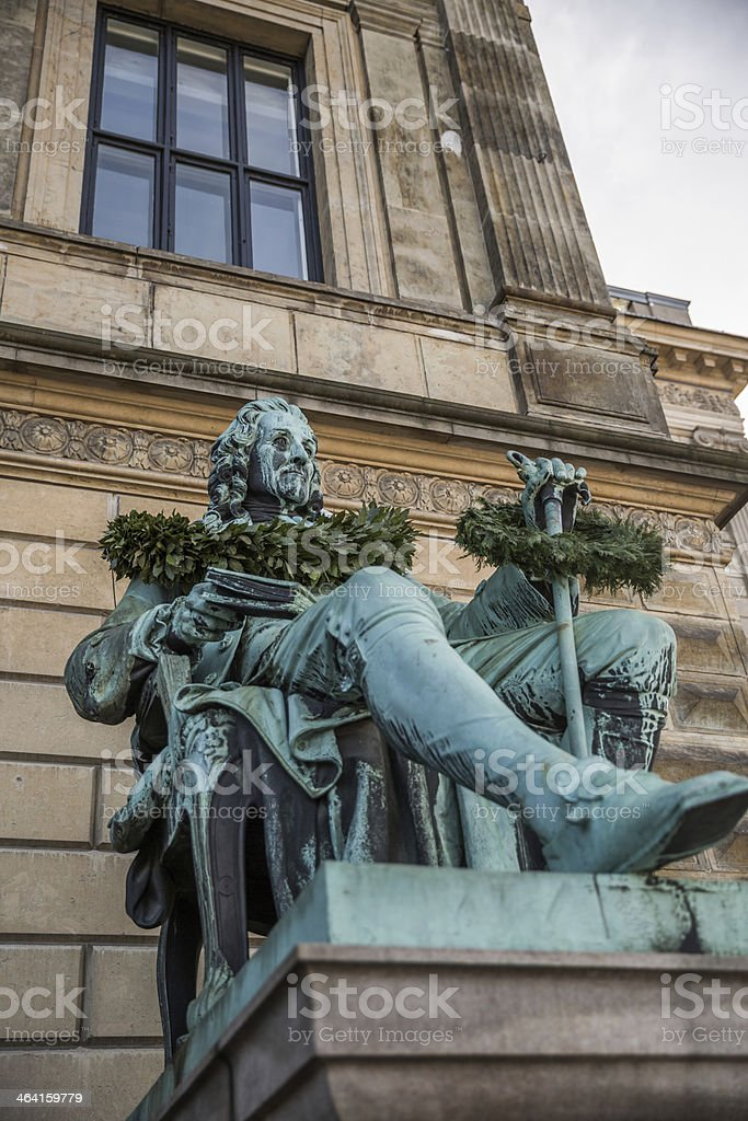Ludvig Holberg in front of the Royal Theater royalty-free stock photo