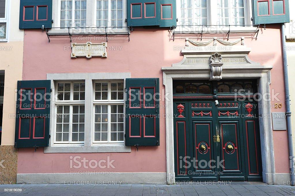 Ludwig van Beethoven - House of birth stock photo