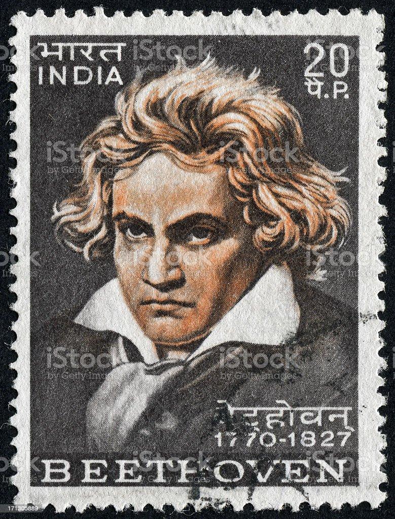 Ludwig Van Beethoven Stamp stock photo