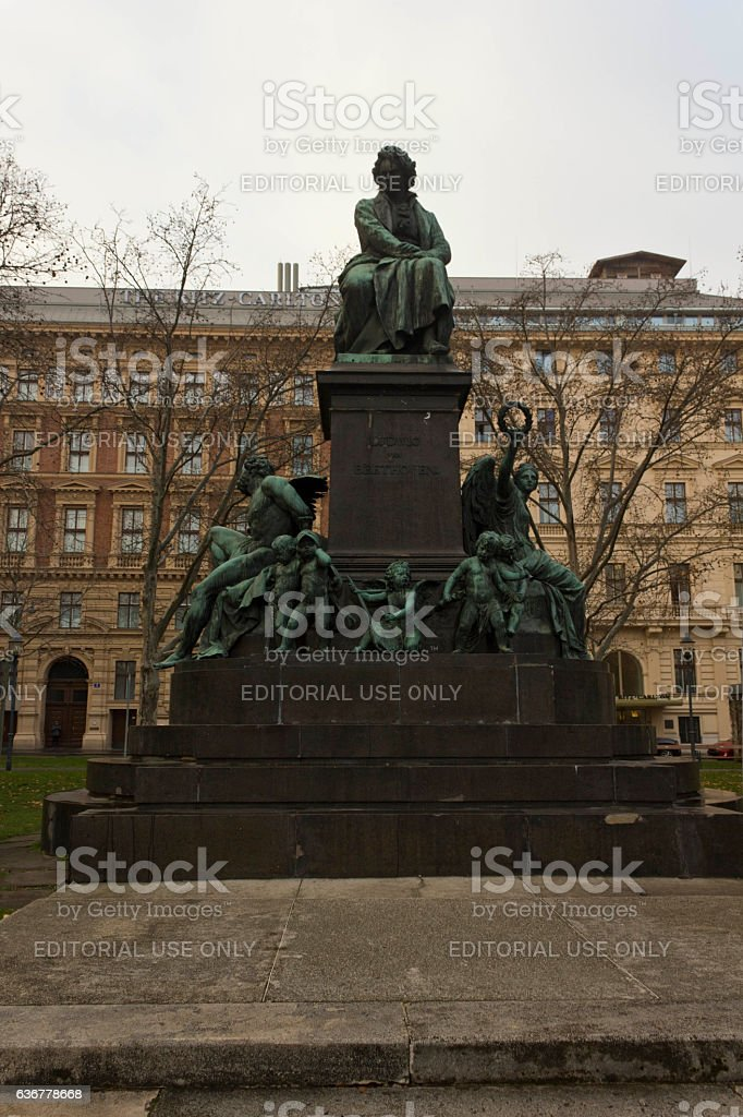 Ludwig van Beethoven Statue in Vienna stock photo