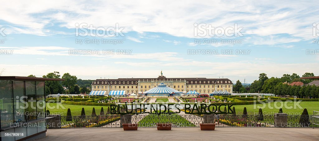 Ludwigsburg Palace (Schloss Ludwigsburg) in Baden Wuerttemberg, Germany stock photo