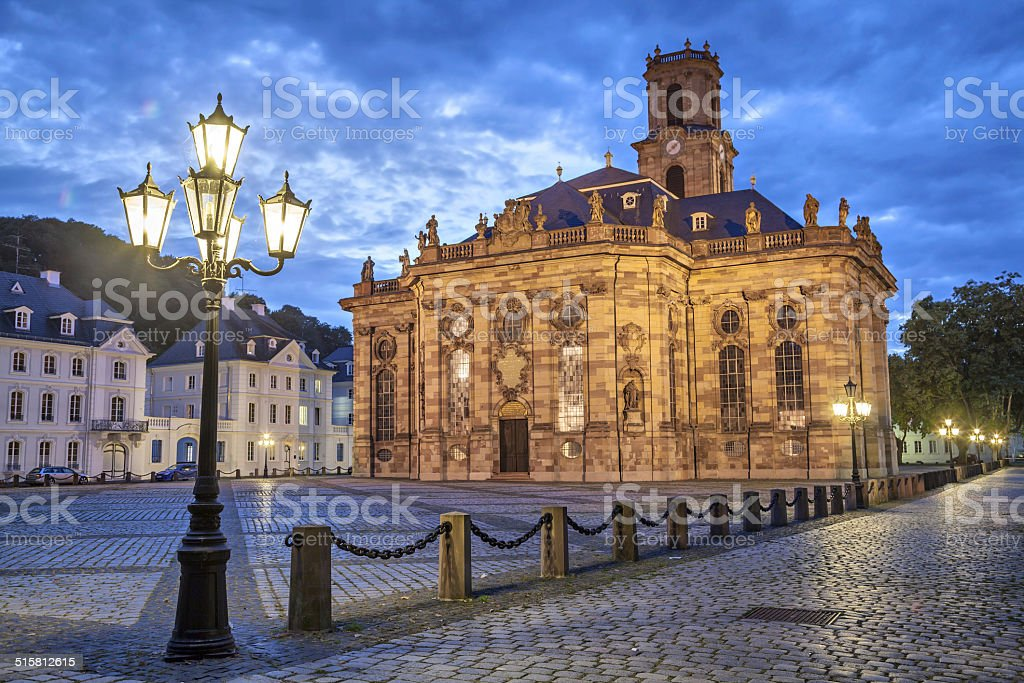 Ludwigskirche -  a Protestant baroque style church in Saarbrucken, Germany stock photo