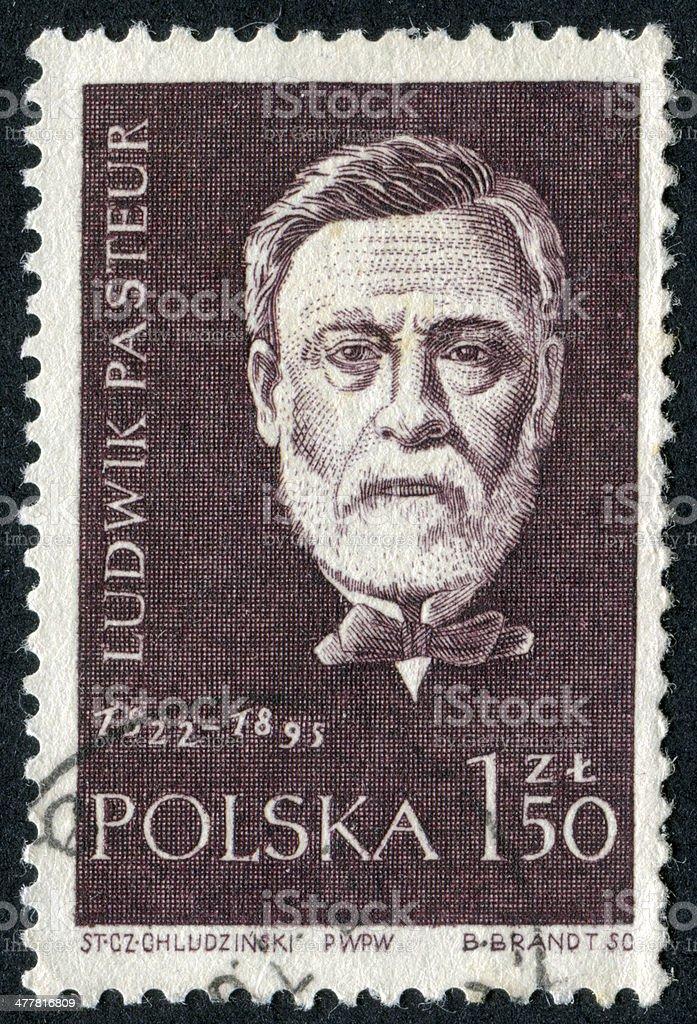 Ludwik Pasteur Stamp royalty-free stock photo