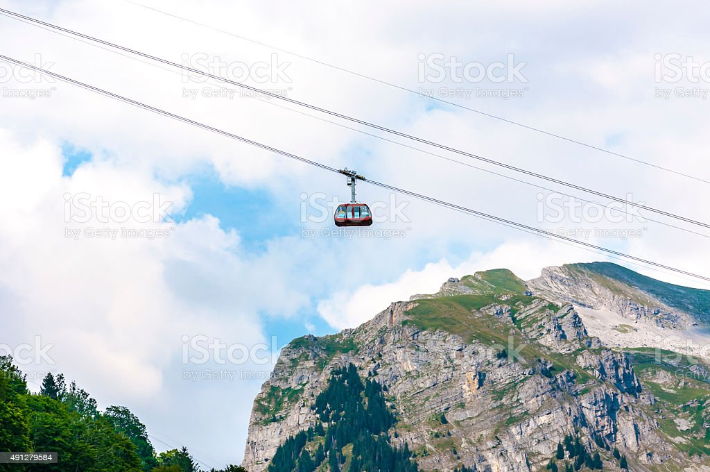 Lufseilbahn Engelberg-Brunni stock photo