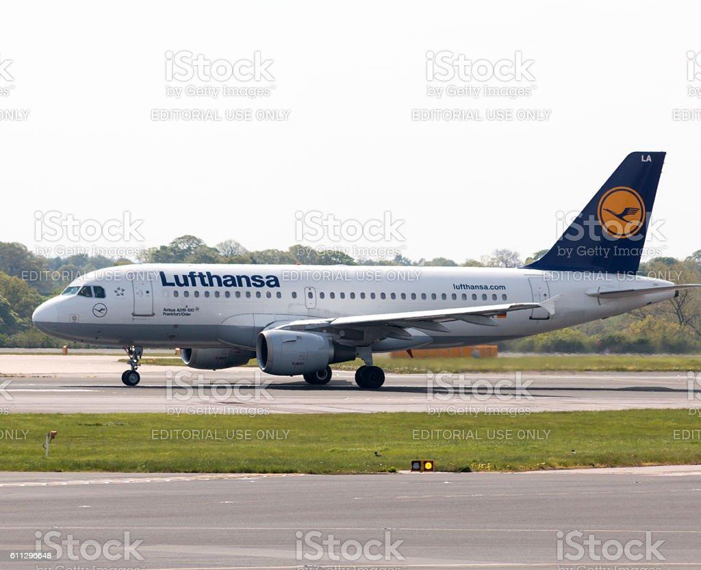 Lufthansa A319 stock photo