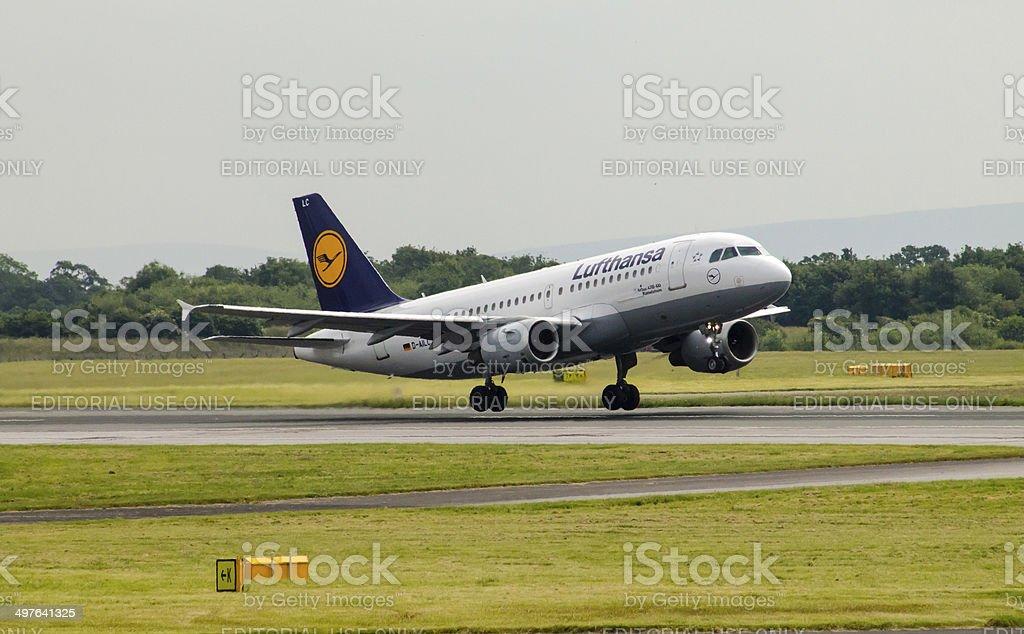 Lufthansa Airbus A319 stock photo